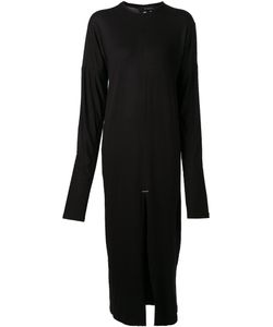 SID NEIGUM | Staple Dress From Featuring A Crew Neck Long Sleeves A Front Slit And A Mid-Length