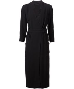 Wes Gordon | Silk Blend Belted Wrap Dress From Featuring A Deep V Neck A Belted Waist Pleated Details And Front Patch Pockets