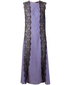 Wes Gordon   Длинное Платье С Кружевными Вставками