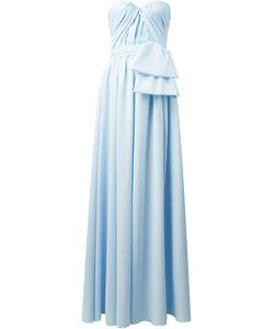 MSGM | Длинное Платье Без Лямок Со Сборками