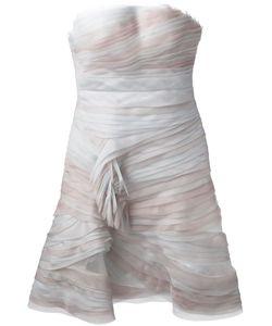 Ermanno Scervino   Гофрированное Платье Без Бретелек