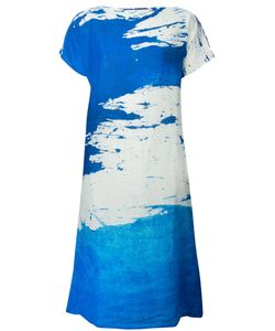 DANIELA GREGIS | And Linen Abstract Print Flap Dress From
