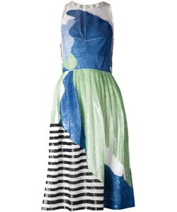 NOVIS | Mulitcoloured Stretch Silk Sequin Patterned Striped Dress From