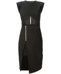 VIOLANTE NESSI | Платье С Глубоким Разрезом И Вырезными Деталями