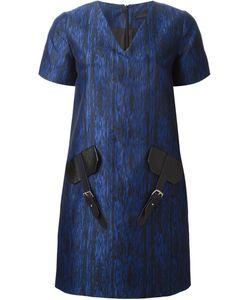 JAMIE WEI HUANG | Жаккардовое Платье С Кожаными Деталями