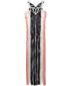 JANE BOWLER | Платье С Бахромой И Лазерной Отделкой