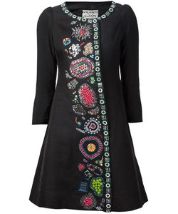 Libertine | Multicoloured Wool Embellished Flared Fress From
