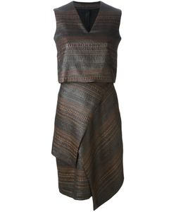 VICTORIA/TOMAS | Textured Asymmetric Dress
