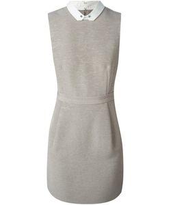 O'2ND | Приталенное Платье С Контрастным Воротником