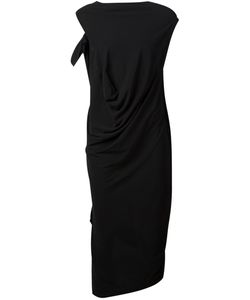 TVSCIA | Cotton Draped Asymmetric Dress From