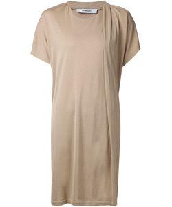 Hussein Chalayan | Платье-Футболка С Драпированными Рукавами
