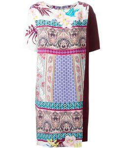 Etro | Платье Свободного Кроя С Комбинированным Принтом