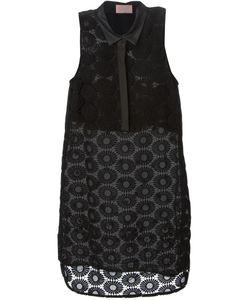 GIAMBA | Платье-Рубашка С Цветочной Вышивкой