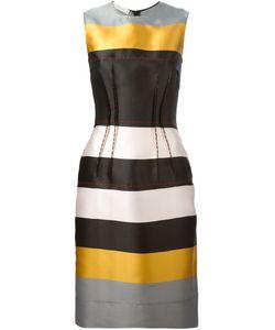 Cedric Charlier | Приталенное Платье В Полоску