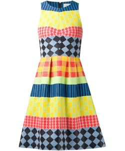 NOVIS   Silk Blend Geometric Jacquard Flared Dress From