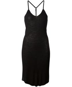 Alessandra Marchi | Cotton Blend Long Strappy Vest Dress From