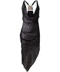 Alessandra Marchi | Драпированное Платье С Асимметричным Подолом