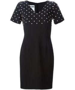 Moschino | Декорированное Платье C V-Вырезом