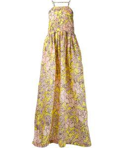 MSGM | Расклешенное Платье В Пол С Цветочным Принтом