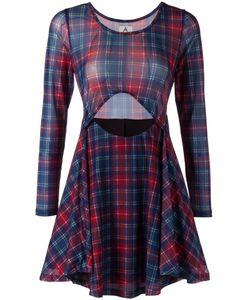 Unif | Платье В Шотландку С Вырезной Деталью