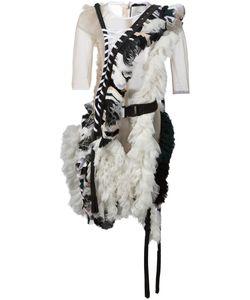 ANNE SOFIE MADSEN | Гофрированное Платье С Прозрачными Панелями