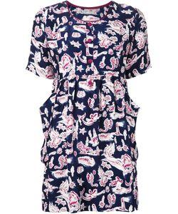 Piamita | Navy And Silk Lena Dress From
