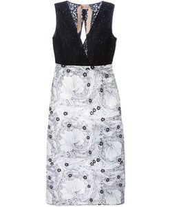 No21 | Приталенное Платье Комбо С Цветочным Кружевом
