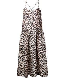 LA PRESTIC OUISTON | Silk Lili Flared Dress From Featuring A Panther Print