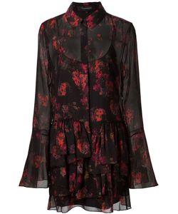 Thakoon | Платье-Рубашка С Рюшами И Абстрактным Принтом