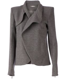 Aurelie Demel | Dark Wool Blend Wrap Front Jacket From