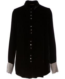 Aurelie Demel | Бархатная Рубашка С Контрастными Манжетами