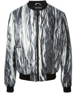 IVANO TRIOLO | -Tone And Leather Python Effect Bomber Jacket From