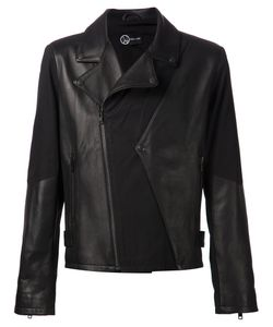 ADA + NIK | Calf Leather Front Flap Detail Biker Jacket From