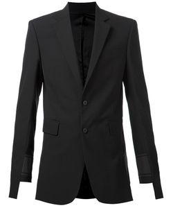 D-GNAK   Wool Blend Asymmetrical Sleeves Blazer From