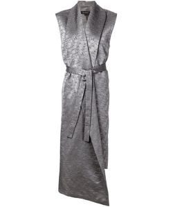 SID NEIGUM | Cotton Blend Long Belted Waistcoat From
