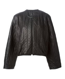 Pas Du Tout | Leather And Cotton Embossed Cable Jacket From