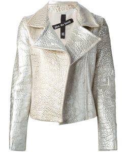 Pas Du Tout | -Tone Leather Textured Biker Jacket From