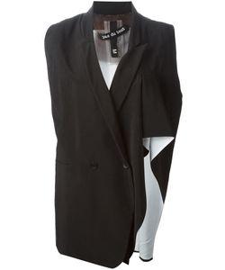 Pas Du Tout | And Silk Asymmetric Ruffled Waistcoat From