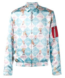 Kit Neale | Silk Coca-Cola Print Bomber Jacket From