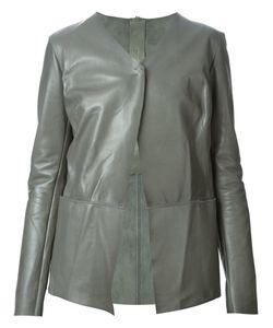 B-USED   Кожаный Пиджак С Асимметричным Передом