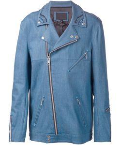 99 IS | Байкерская Куртка С Декорированным Воротником