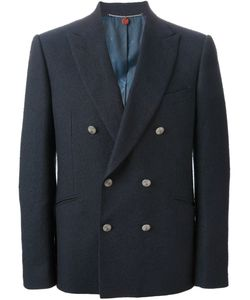Maurizio Miri | Navy Linen Blend Double Breasted Blazer From