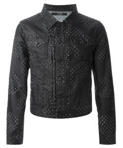 Sibling | Stretch Cotton Perforated Denim Jacket From