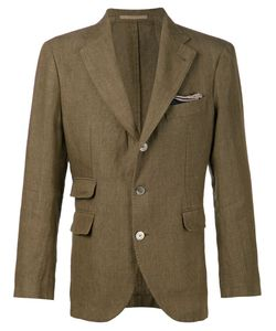 Man | Olive Linen Kennedy Blazer From 1924