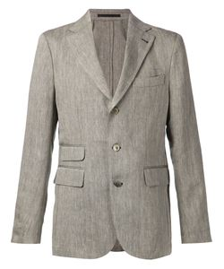 Man | Linen Kenedy Blazer From 1924 Featuring A Herringbone Pattern
