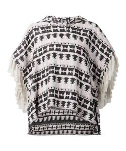 Thakoon Addition | And Nude Cotton Blend Ethnic Pattern Woven Poncho From