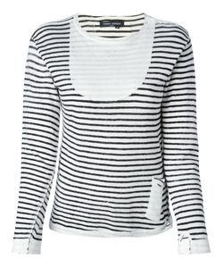 YOSHI KONDO | Navy And Cotton Striped Sweater From