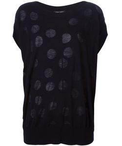 YOSHI KONDO | Navy Cotton Blend Polka Dot Sweater From