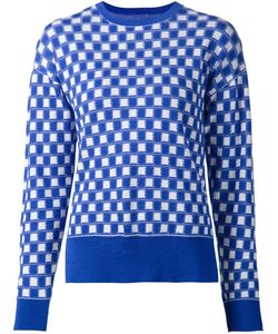 NOVIS | And Cashmere And Silk Blend Square Pattern Intarsia Knit Sweater From