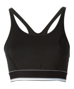 CARA D. X DKNY | Cara X Dkny Cropped Tank From Dkny Featuring A Scoop Neck A Racerback Style And A Contrasting Hem With A Ruched Logo Tag To The Rear